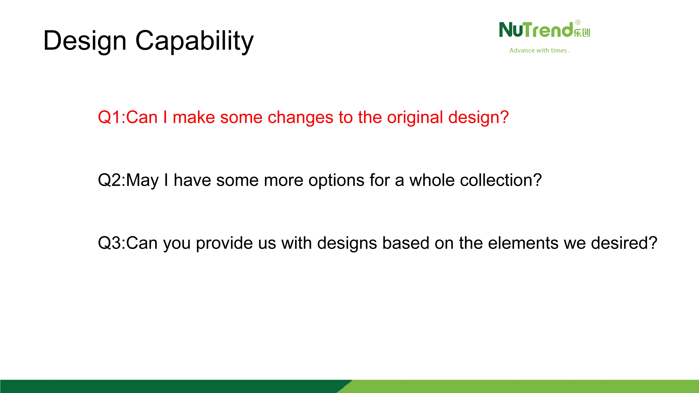 Our Design Capability