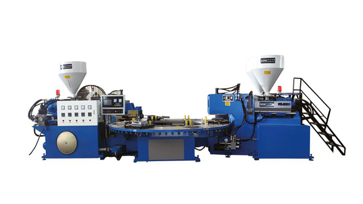 Automatic PVC three-color slippers upper injection molding machine EB3 series