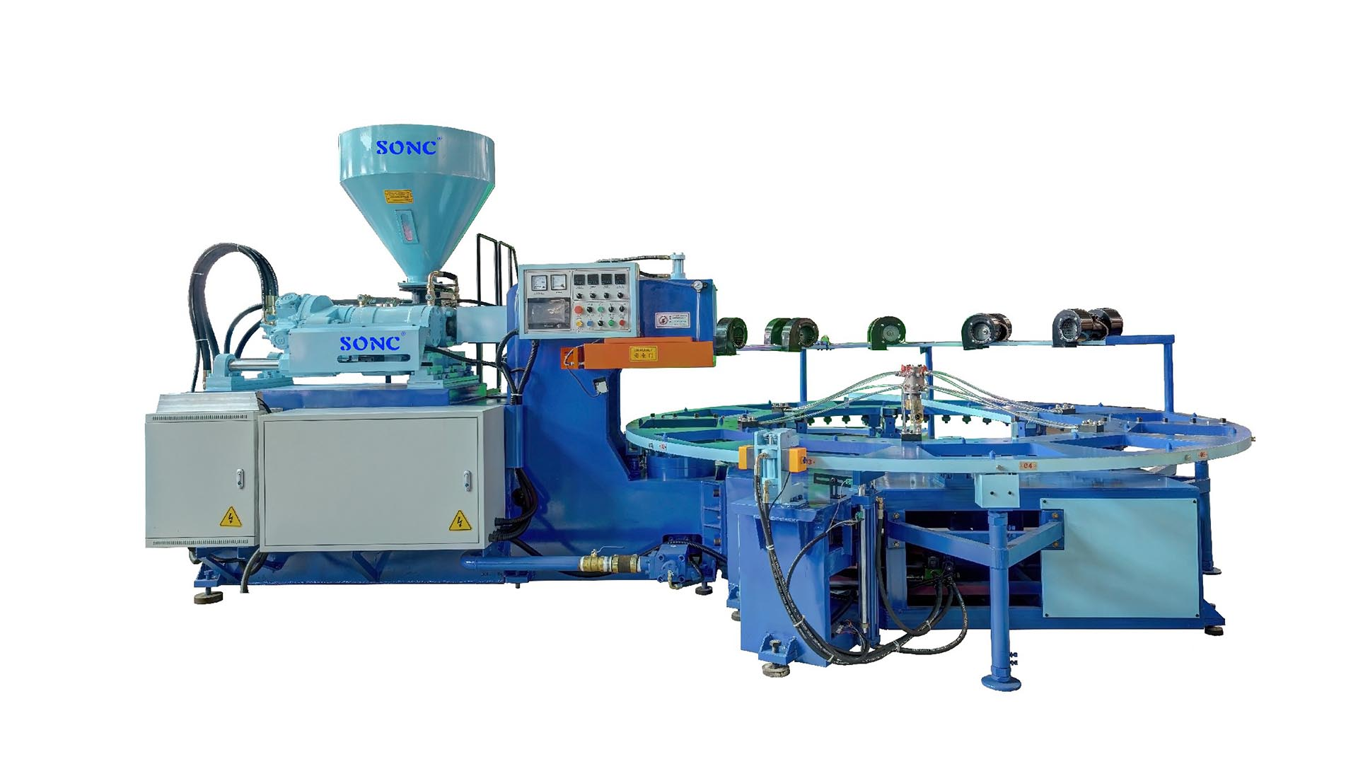 TPR & PVC Sole Shoe Making Machine PVC Blowing Injection Molding Machine SONC