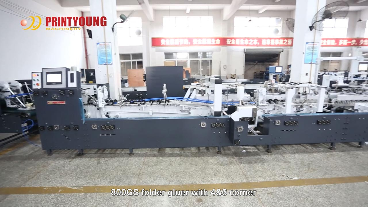 PRY-GS800 Advance Technology High Accuracy Automatic High Speed 4 And 6 Corner Folder Gluer Machine