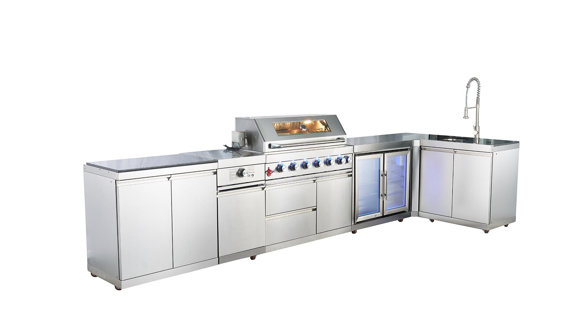 WST-001-5-1 Top vendendo cozinha ao ar livre em pé livre de aço inoxidável armário de cozinha comercial e churrasqueira