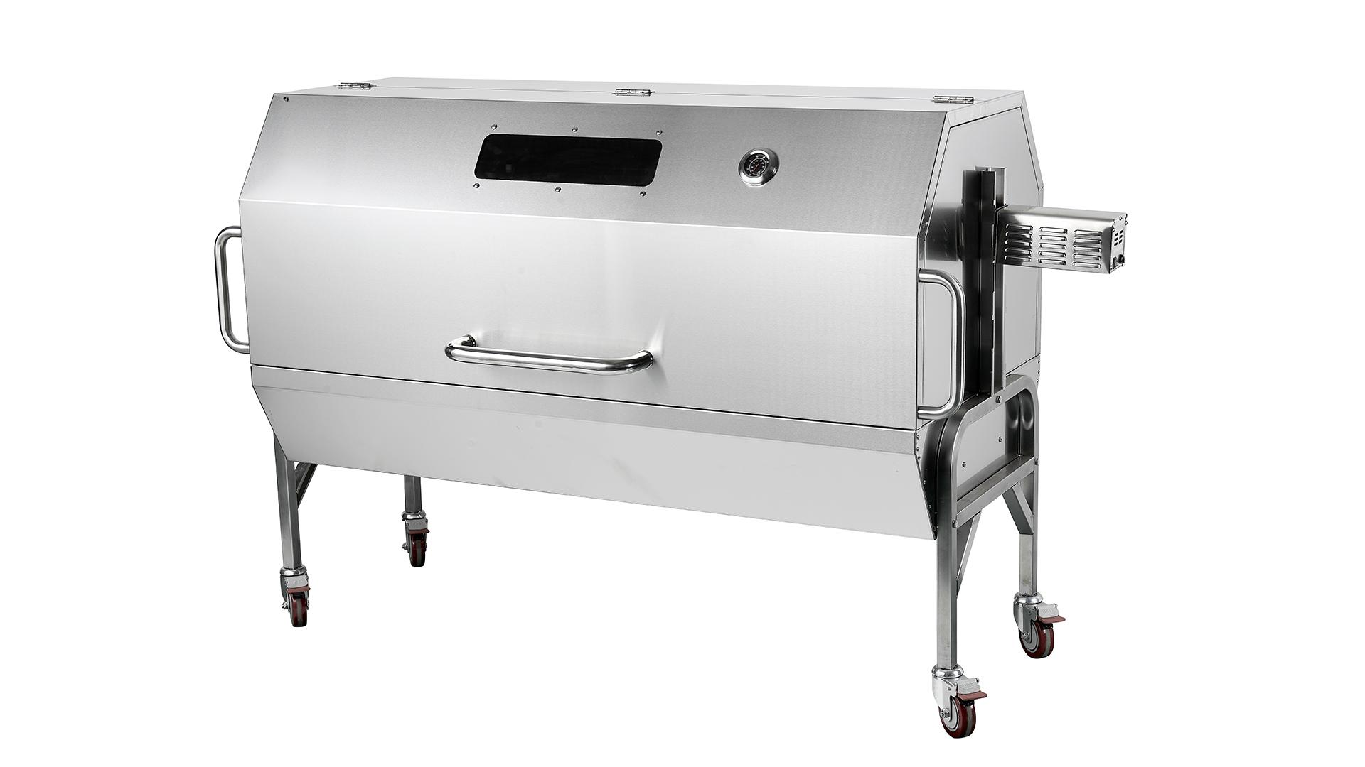 WST-009 all'ingrosso barbecue all'aperto sputo rotisserie arrosto pecore e maiale portatile agnello agnello di pollo gas BBQ Rotsisserie Grill