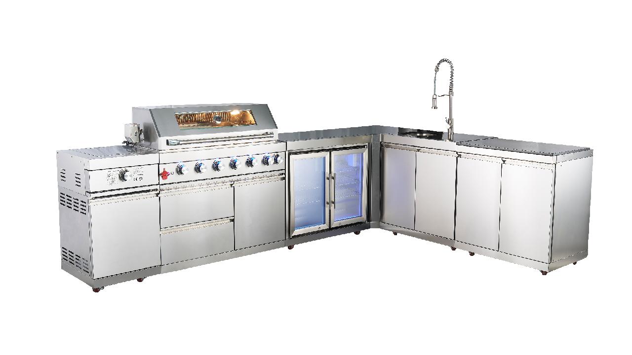 WST-001-5-2 Personalizzato Modotti da cucina all'aperto Mobile Mobile Mobile Mobiles Isola BBQ Grill