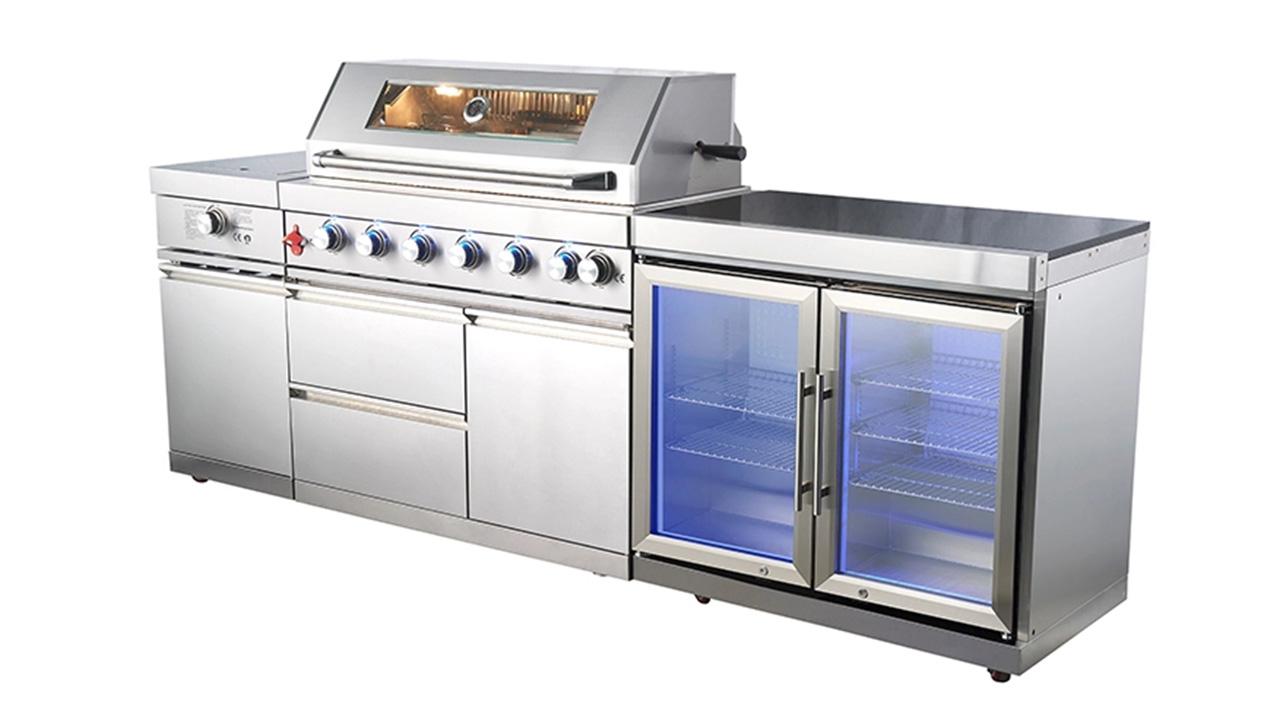 WST-001-2-1 China fabricante personalizado de aço inoxidável churrasqueira churrasco cozinha ao ar livre churrasqueira gás gril
