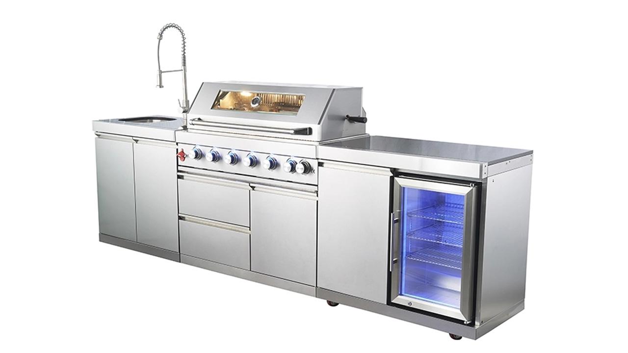 WST-001-2-2-S Gabinete de cociña de aceiro inoxidable de aceiro inoxidable Gabinete BBQ Grill Configurar a grella de gas