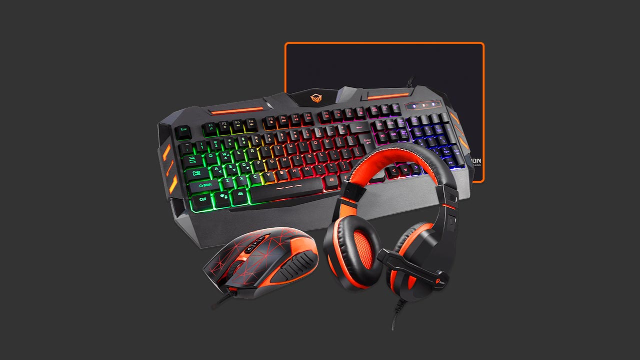 Meetion C500 Gaming Peripherals Bundle Mouse and Keyboard Combo with Headset