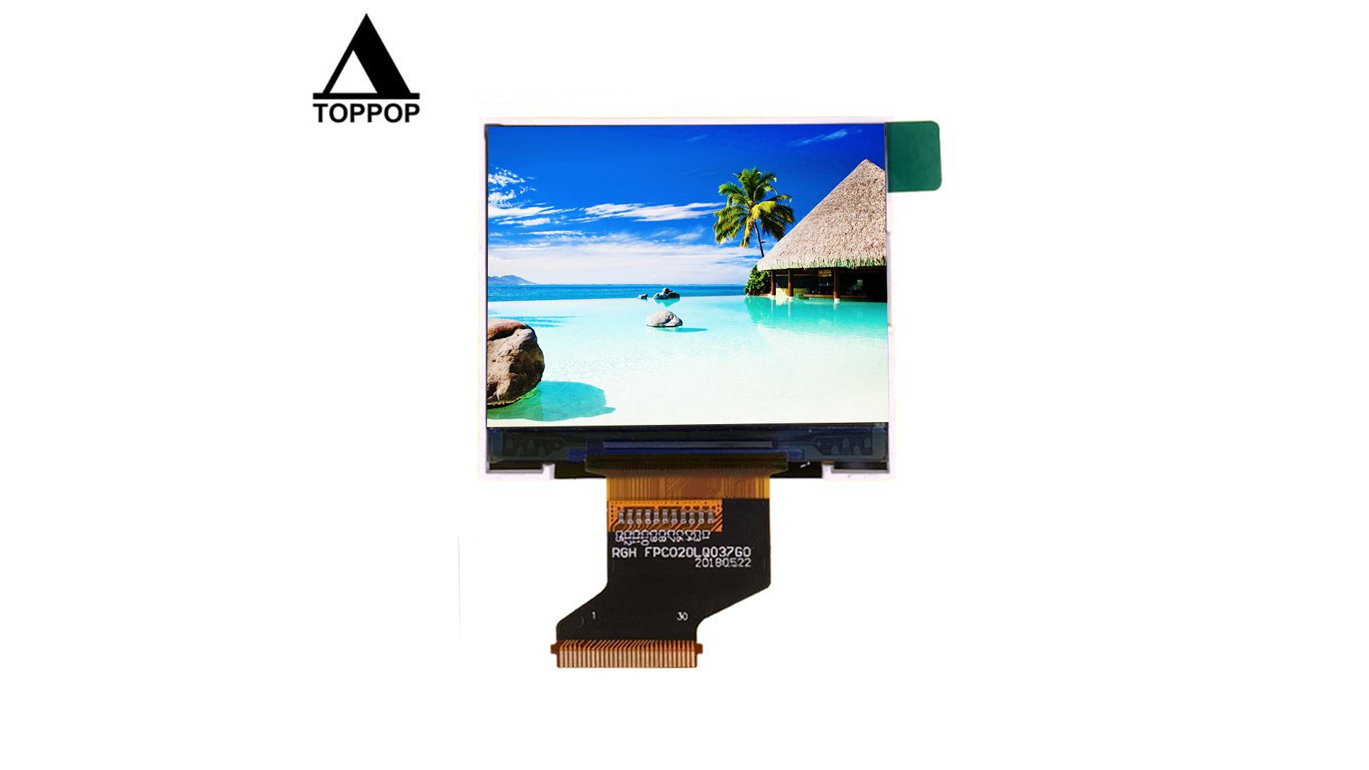 "Cheap 2.0 inch 320*240 Transflective 2.0"" TFT LCD Screen IPS lcd display screen Free Angle Outdoor Sunlight Readable LCD Display Panel LCM Module MCU ILI9342C toppoplcd"