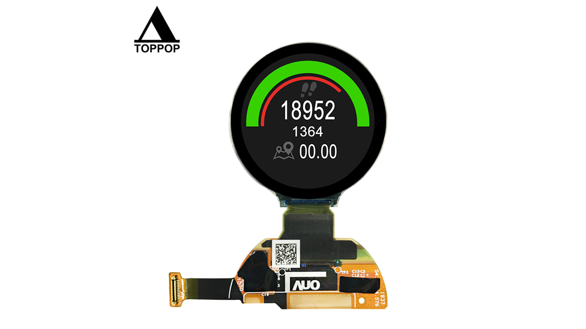1.2 inch 390*390 OLED Module IPS Round lcd AMOLED Display MIPI SPI Circular OLED Screen LCD Module with Touchscreen 24 Pin flexible FPC Connector for Smart watch LCD Screen toppoplcd