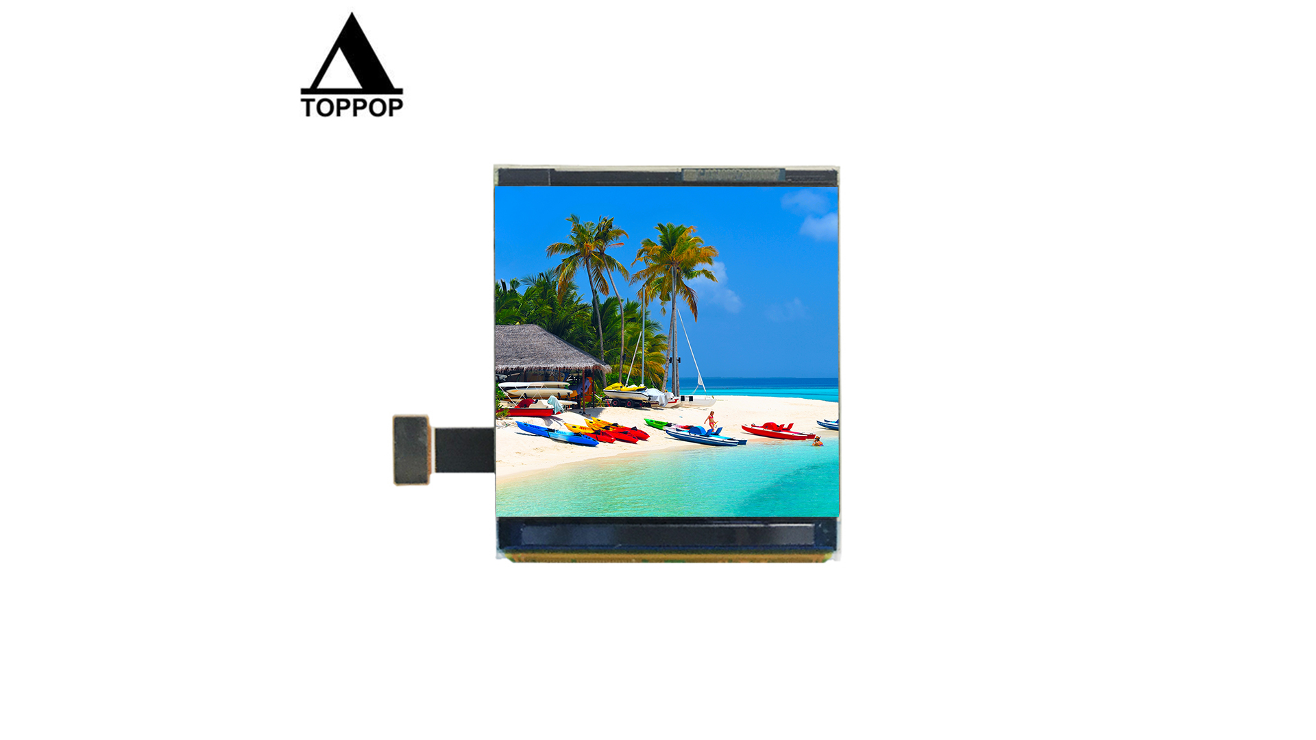 Original 1.63 inch 320*320 Square AMOLED lcd Display MIPI DSI to hdmi  IPS lcd screen Color OLED Screen Panel LCD TFT Module 20 Pin Flexible FPC 300cd toppoplcd