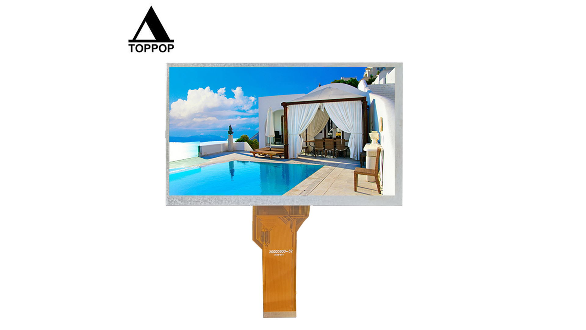 7.0 inch 800*480 TFT LCD Display 7 inch IPS TN High Brightness LCD Module Touch Screen RGB Interface with Resistive Capacitive Touch Panel CTP Customization OEM ODM Factory Optional toppoplcd