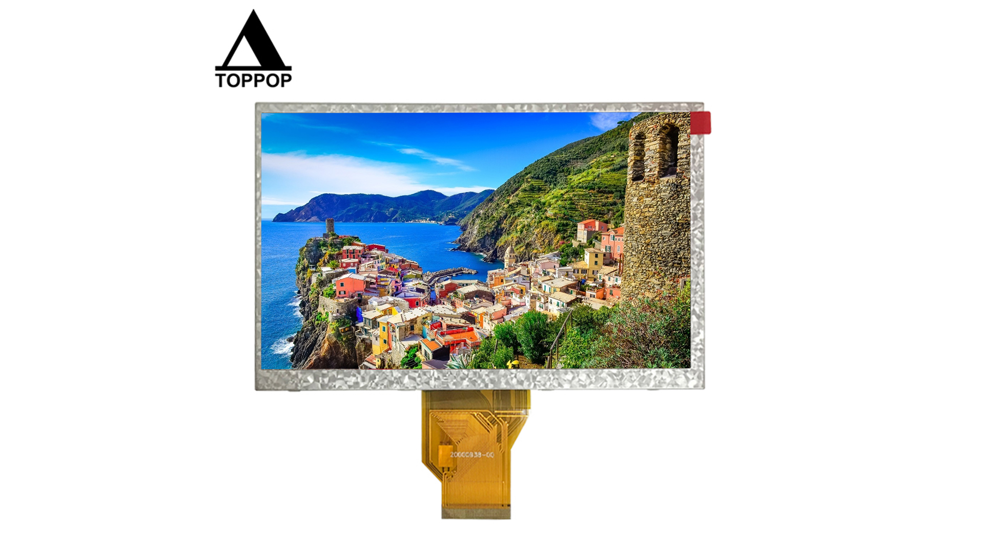 """7 inch 800*480 Digital LVDS TFT LCD Display 7.0"""" LCM Module with Resistive Capacitive LCD Module Touch Screen Panel CTP Optional 50 Pin FPC Low Cost LCD Modules Manufacturer toppoplcd"""