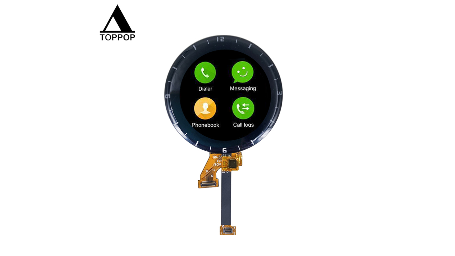 cheap 1.3 inch Round Watch LCD Touch Screen 240*240 IPS TFT LCD Display with Capacitive Touch Panel for Smart Watch LCD Module Factory Support Customization OEM ODM Manufacturer toppoplcd