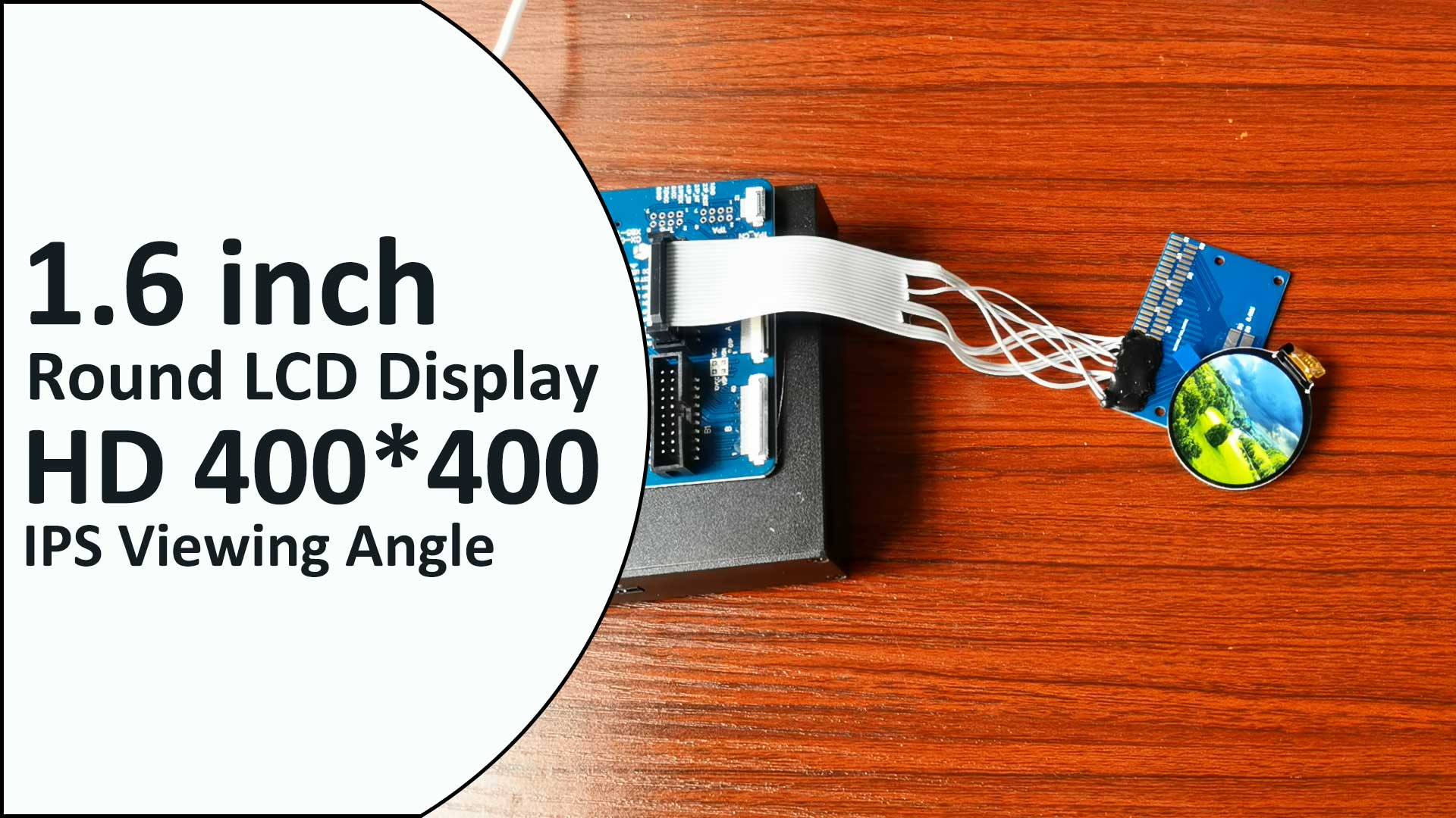 Factory Direct Sell--1.6 inch 400*400 TFT LCD Module Small Round Watch LCD Screen Circular LCD Display ST7797 Customize Capacitive Touch Panel Original Manufacturer OEM ODM toppoplcd
