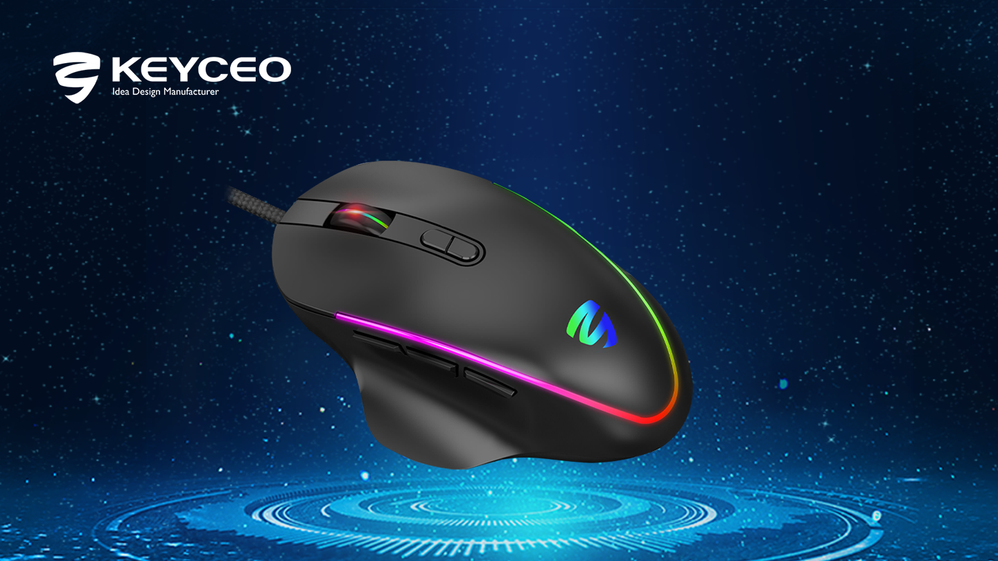 Keyceo KY-M1013 12800 DPI Gaming Mouse Wired Mouse Wireless Mouse Rechargeable Mouse Computer Mouse