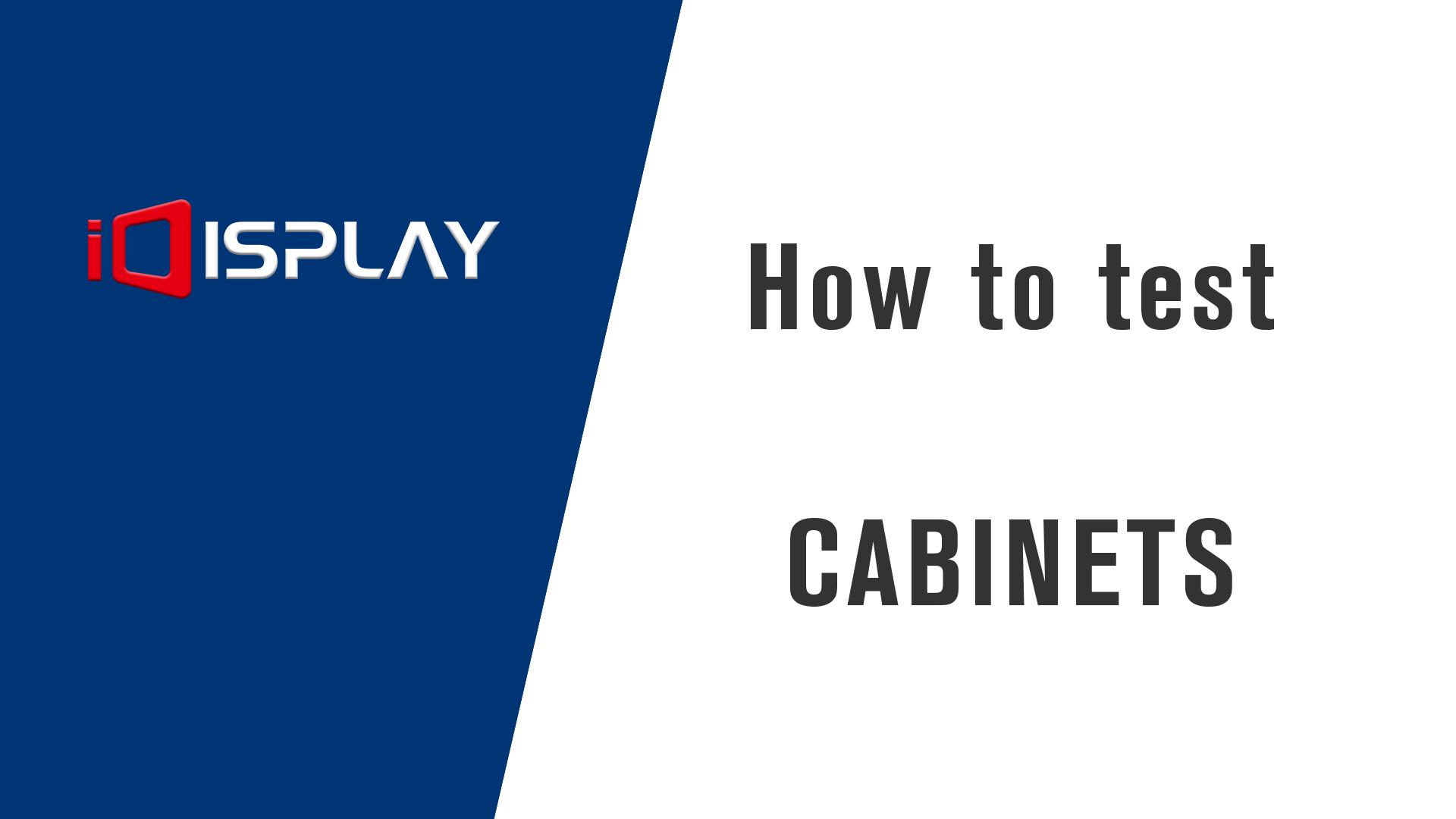캐비닛 테스트 방법 - 심천 IDISPLAY 기술 유한 회사