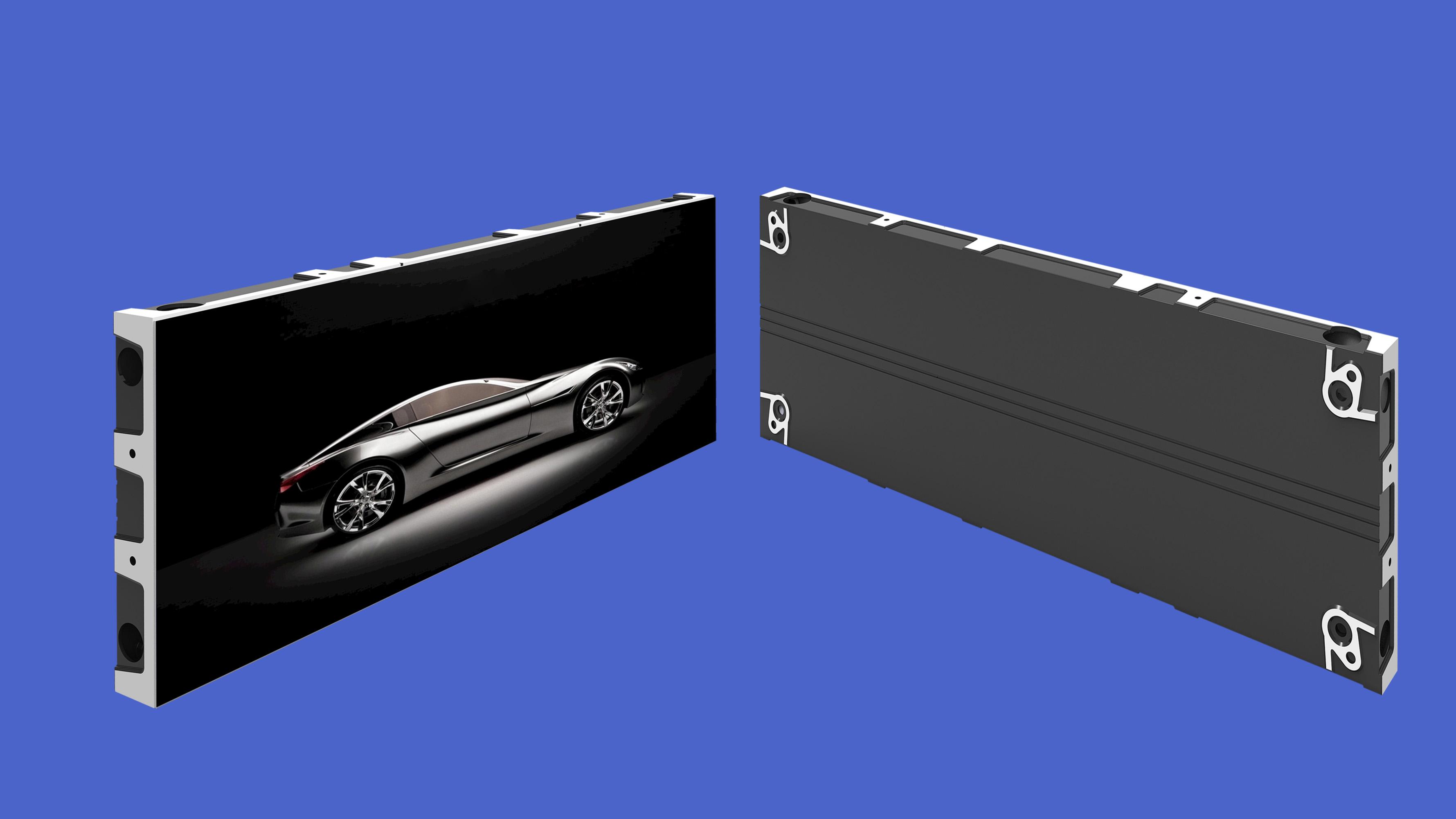 屋内広告LEDディスプレイ画面の360度ビュー、その名前はiDisplayledG-shelfです
