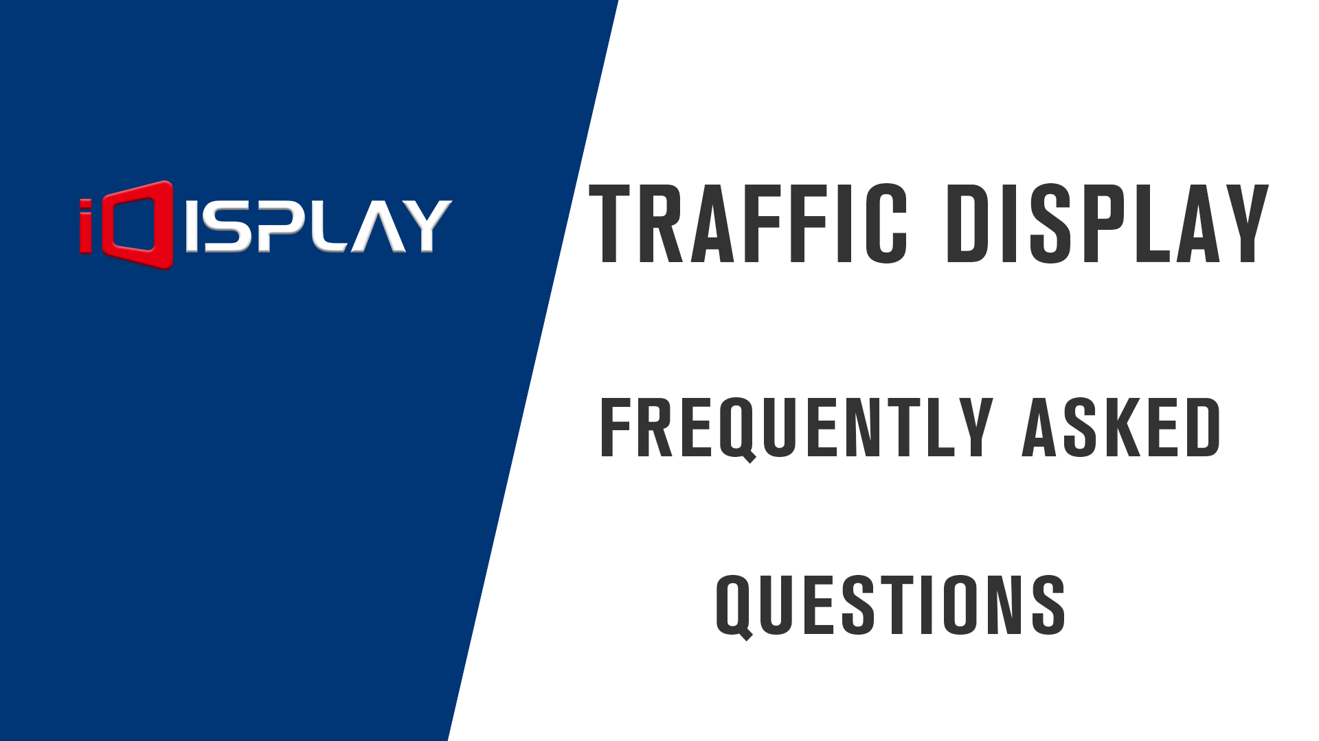 Preguntas frecuentes de la pantalla de tráfico LED