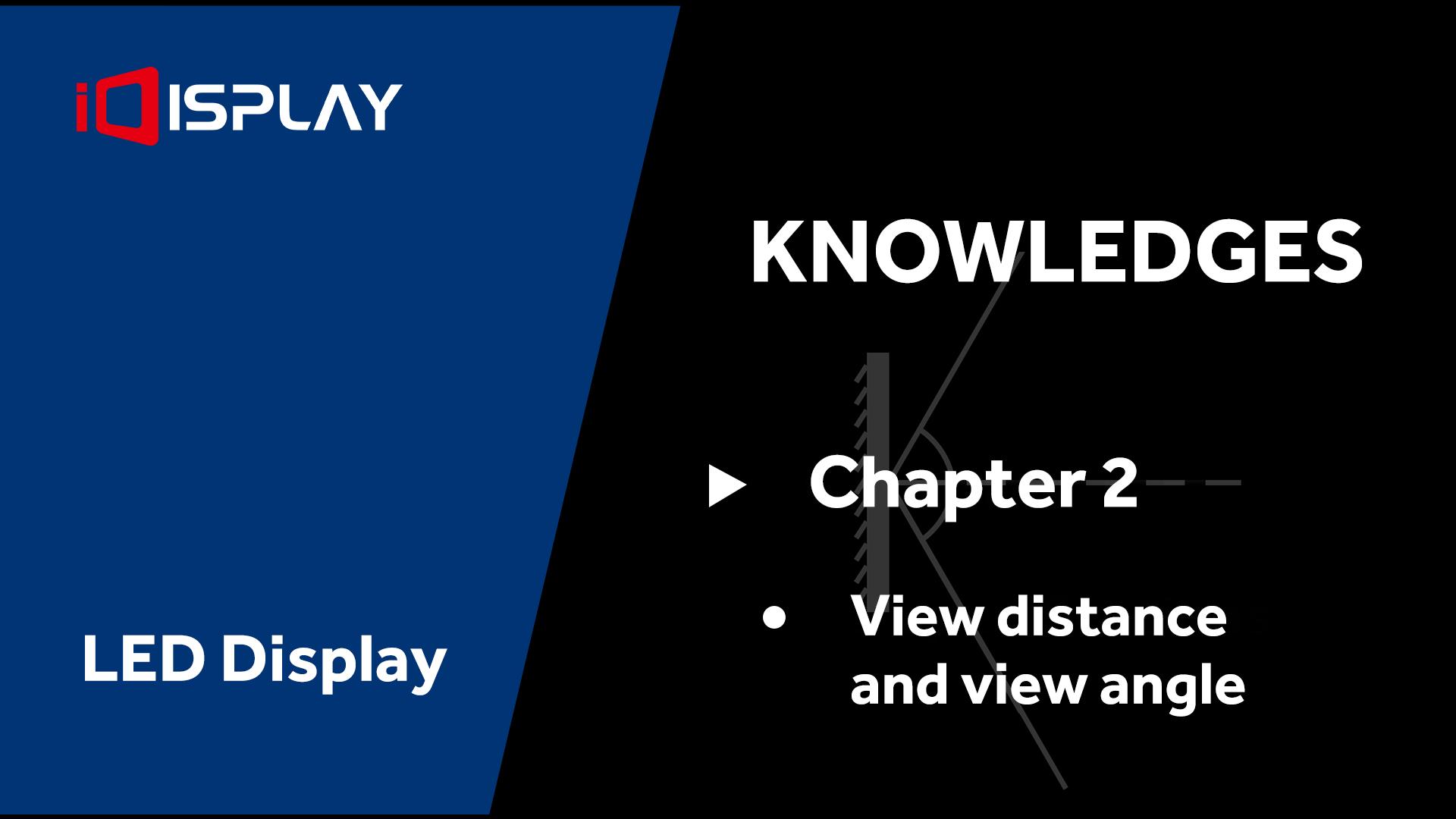 عرض المعرفة الأساسية LED - الفصل 2 عرض المسافة وزاوية العرض