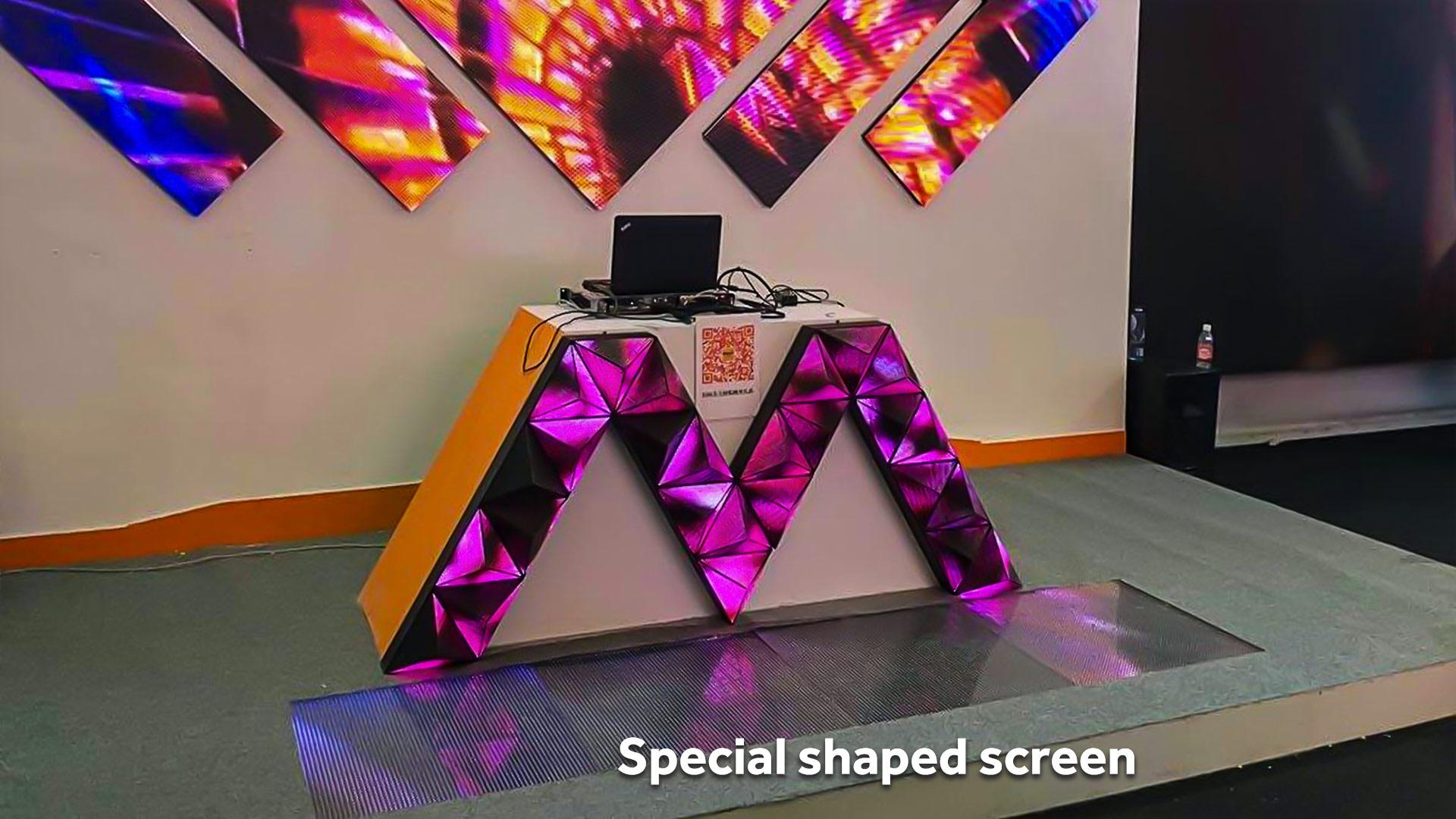 高品質の特殊形状のスクリーンLEDディスプレイの新しいケースプロジェクト
