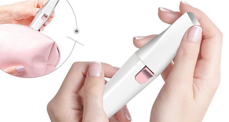 Facial Hair Removal Electric USB Rechargeable Eyebrow Epilator Shaver Mini Portable For Women LR-202