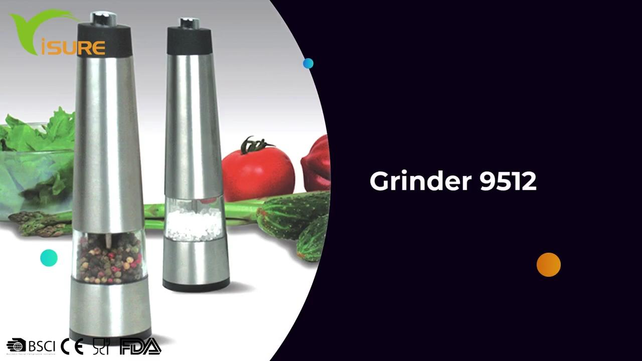 Wholesale 2021 High quality Automatic Electric Salt and Pepper Mill Spice Bottle Grinder 9512