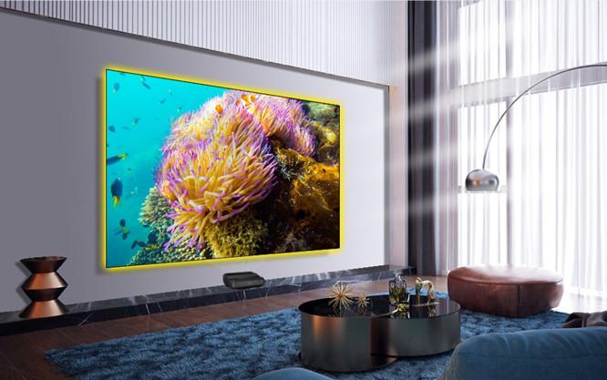 """AlR Luz ambiental Rechazar pantallas de proyección Ultra-Thin 100 """"Marco fijo especializado para los proyectores UST de Optoma P2"""