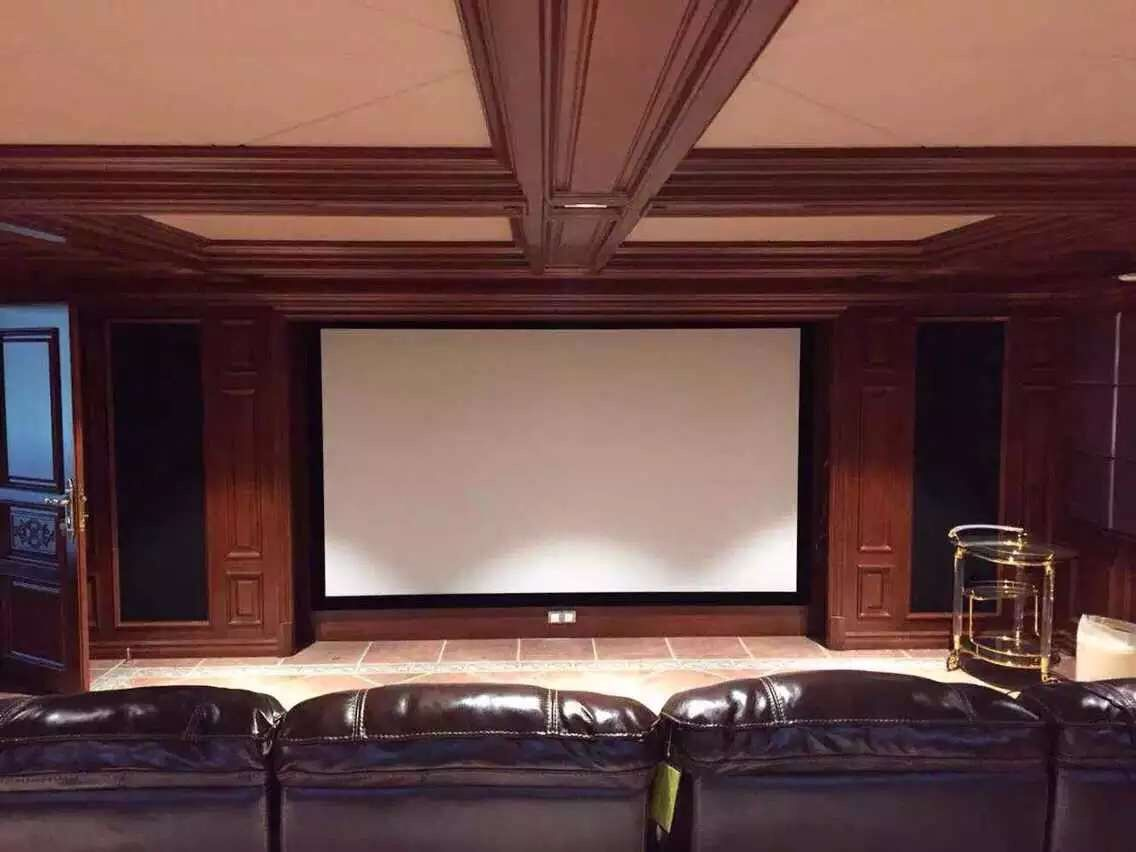 Homecinema 16:9 4:3 2.35:1 4K White Woven Acoustic transparent Sound acoustically Fixed frame projection projector screen