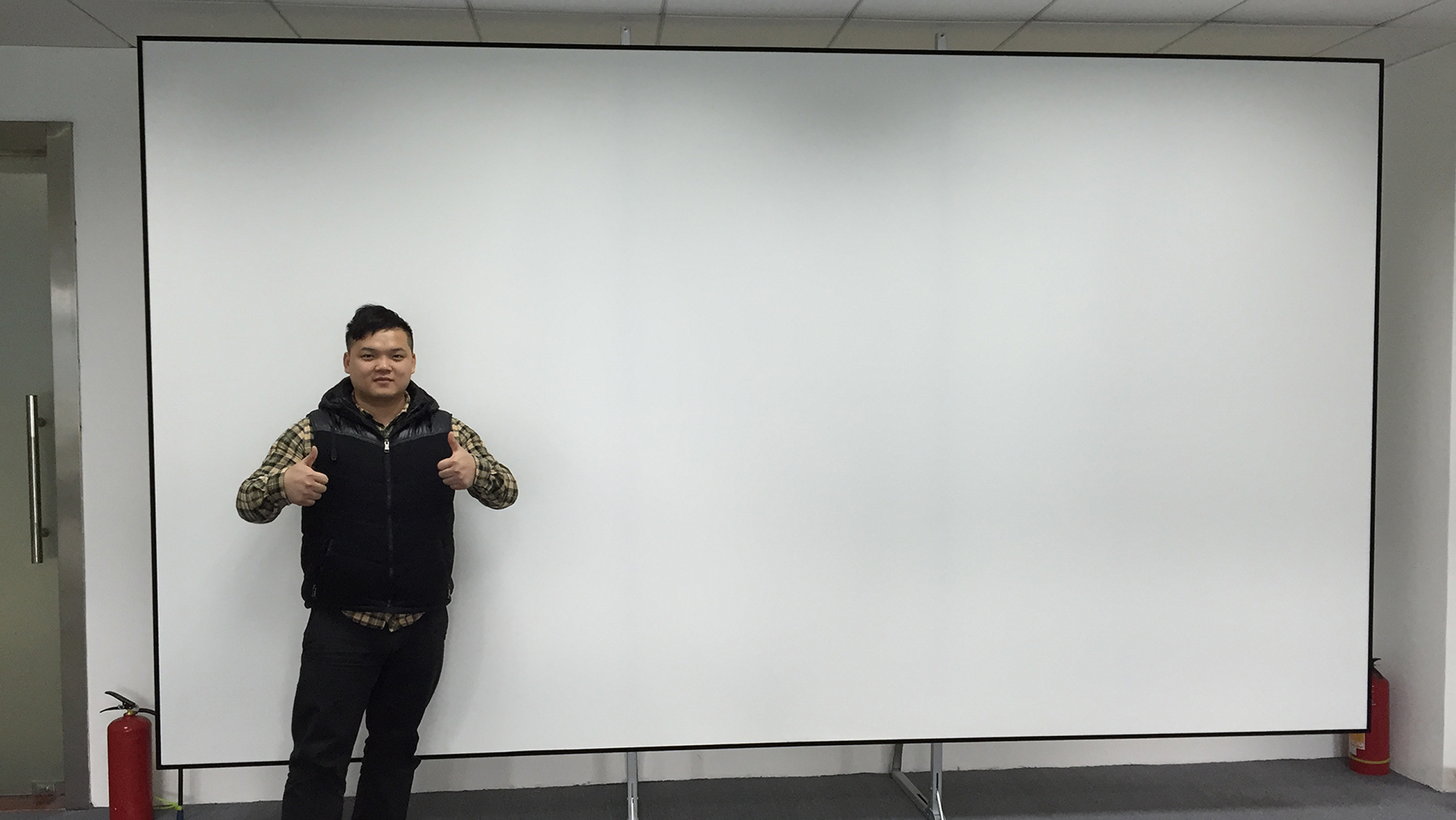 4K flexible white ultra thin frame projector screen