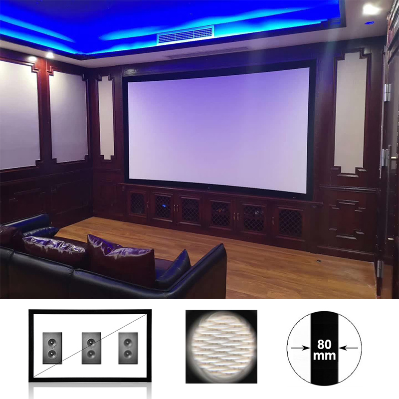 Wholesale OEM/ODM Home Cinema Factory Projector Screen 4K Woven Acoustically Transparent Sound Screens withgoodprice