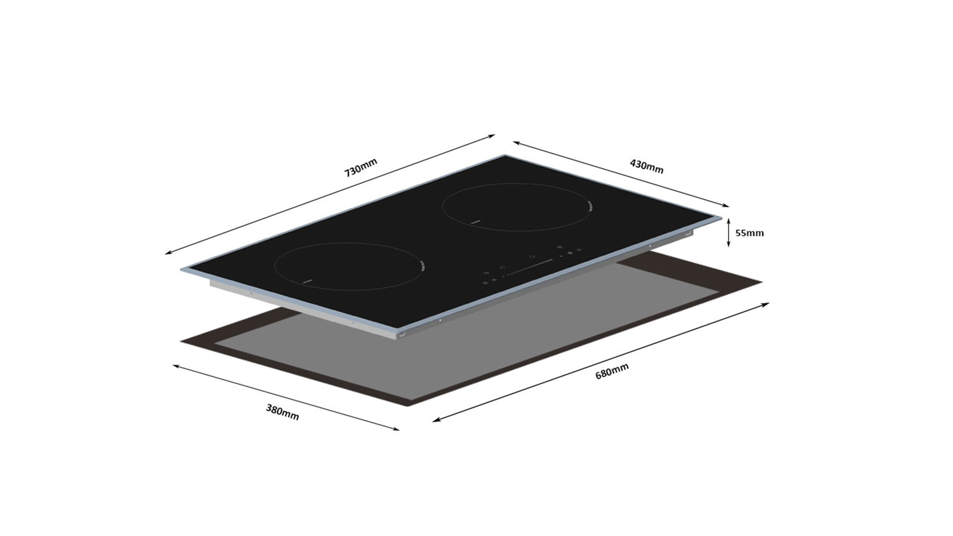 Professional Top 10 Induction Cooktop with Two Burner 8126-201