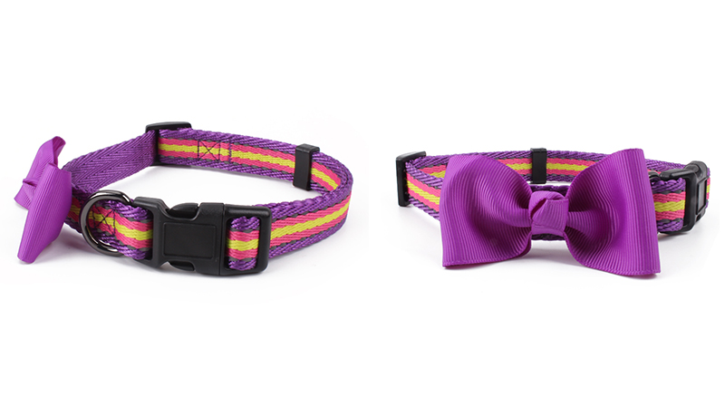 QQPETS factory custom dog collar with bow tie