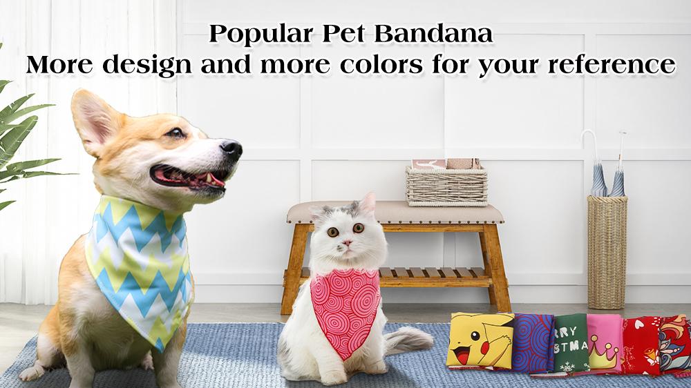 उच्च गुणवत्ता वाले कस्टम मुद्रित कुत्ते बांदा, कुत्ते पालतू बांडाना स्कार्फ-गुआंगज़ौ क्यूक्यूपीटी पालतू उत्पाद कं, लिमिटेड