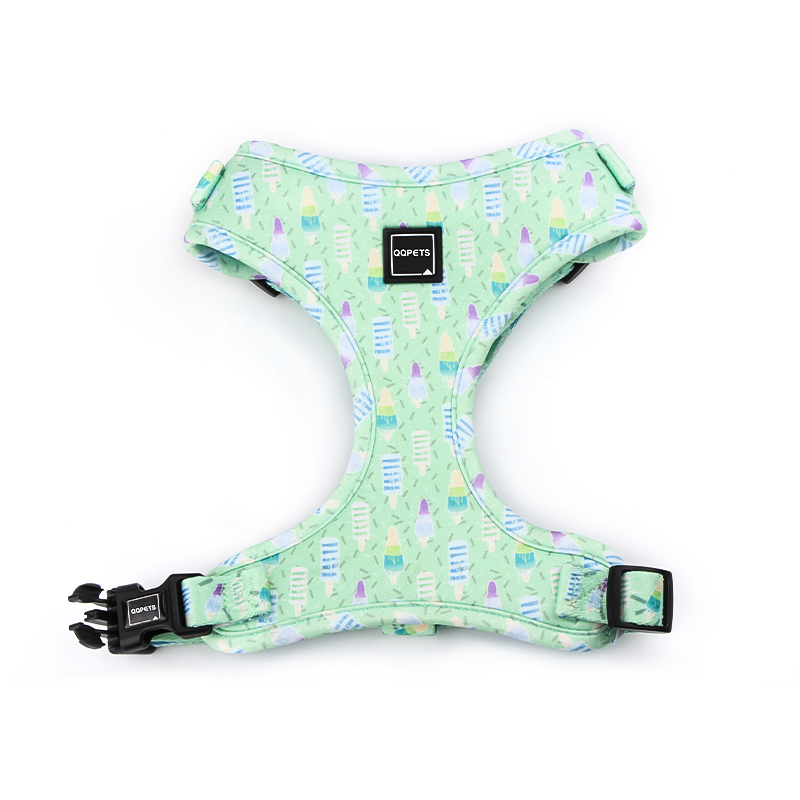 green Customized Personalized Dog Harnesses