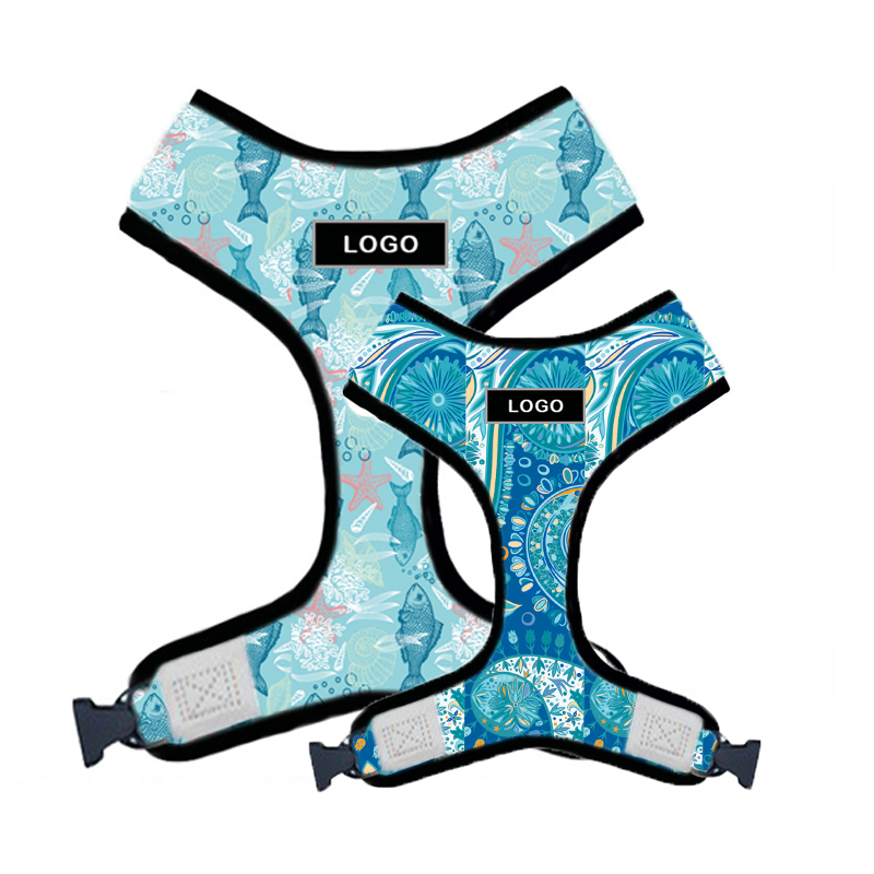 Blue Personalized Dog Harnesses
