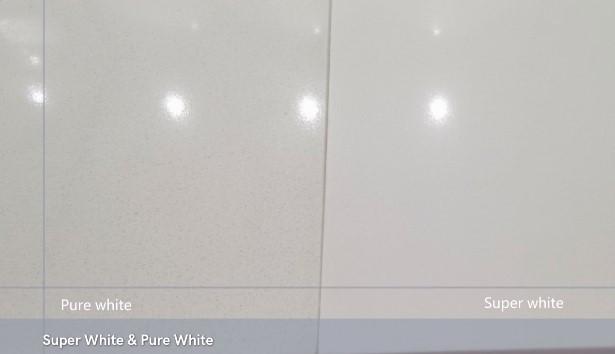 China pulido 3200x1600 blanco puro super blanco encimera de cocina de cuarzo