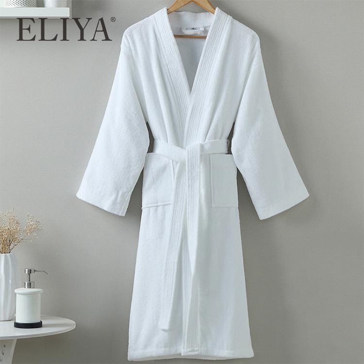 Wholesale luxury bathrobe hotel custom terry bathrobe for women and men with good price - ELIYA