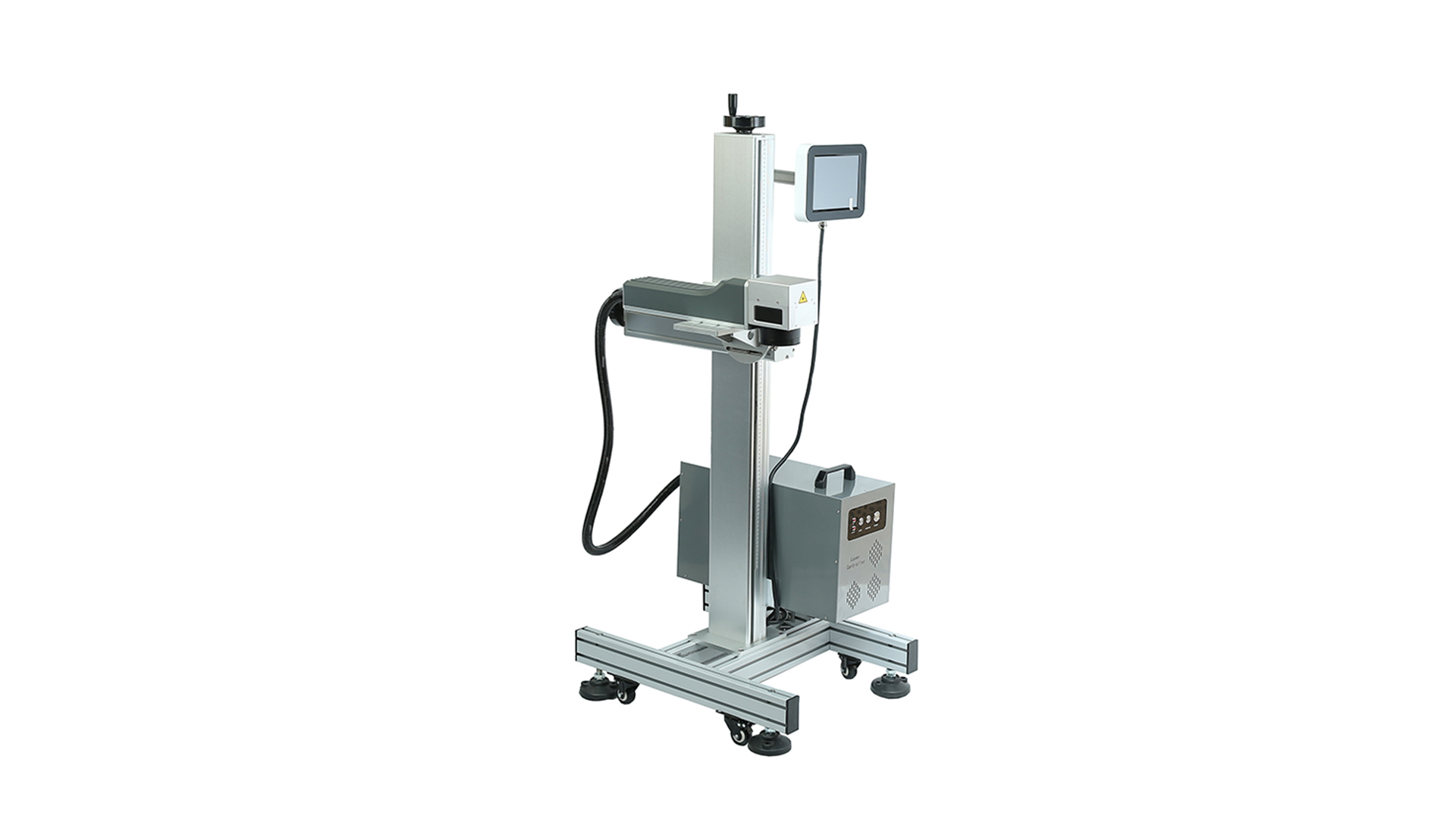 China Fiber Flying Laser Marking Machine with Clefine touch control system| Faith manufacturers-Faith