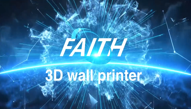 UV ink 3D Vertical wall printer for White Latex Paint Shell powder Wall | Faith