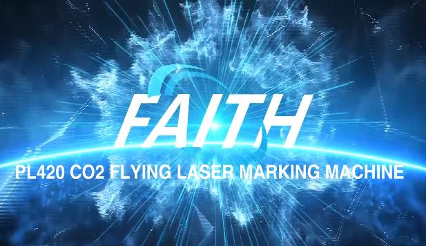 PL420 CO2-Lasermarkierungsmaschine auf Produktionslinie für Plastikflaschenglas | Vertrauen