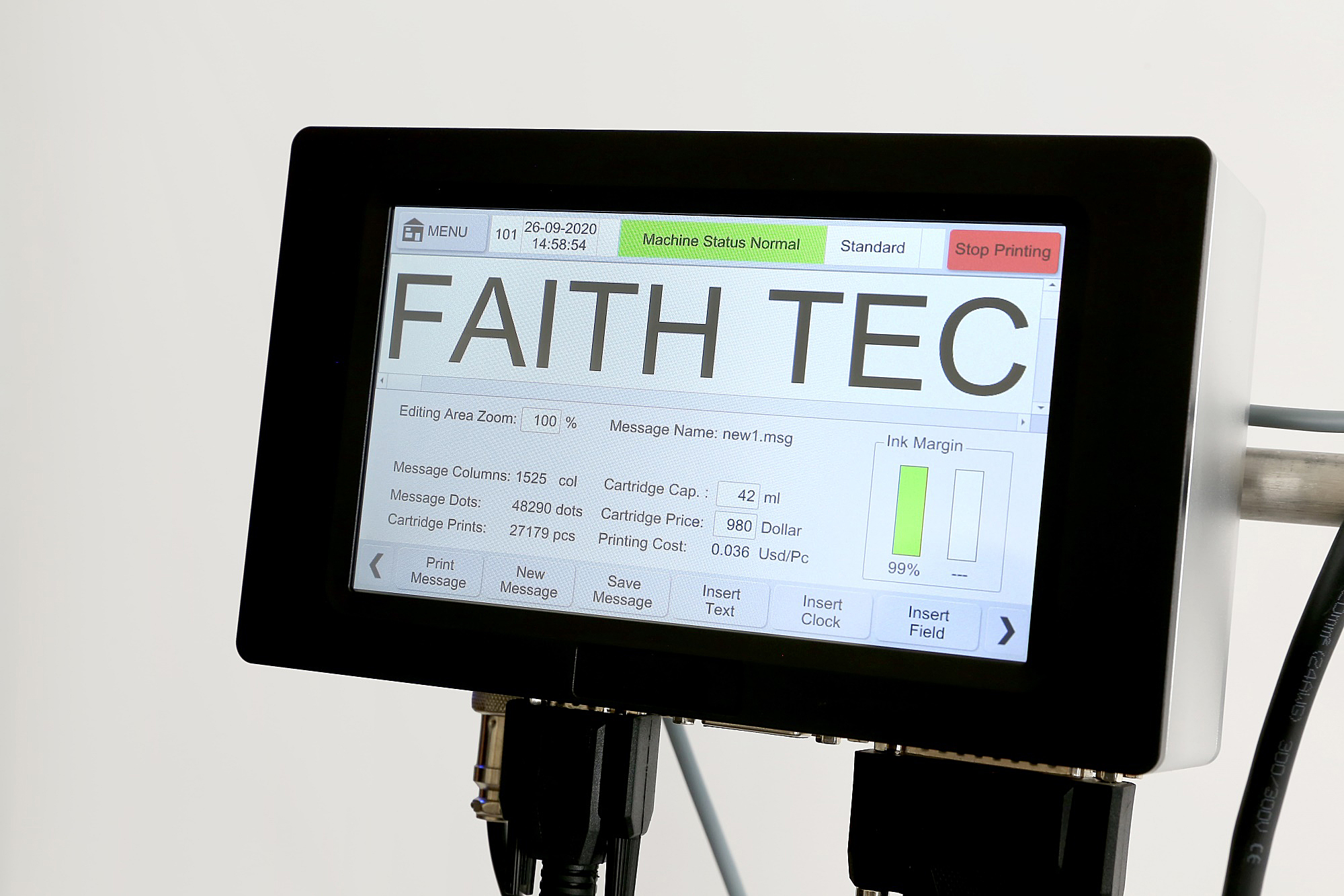 Introto industrial online inkjet printer Faith