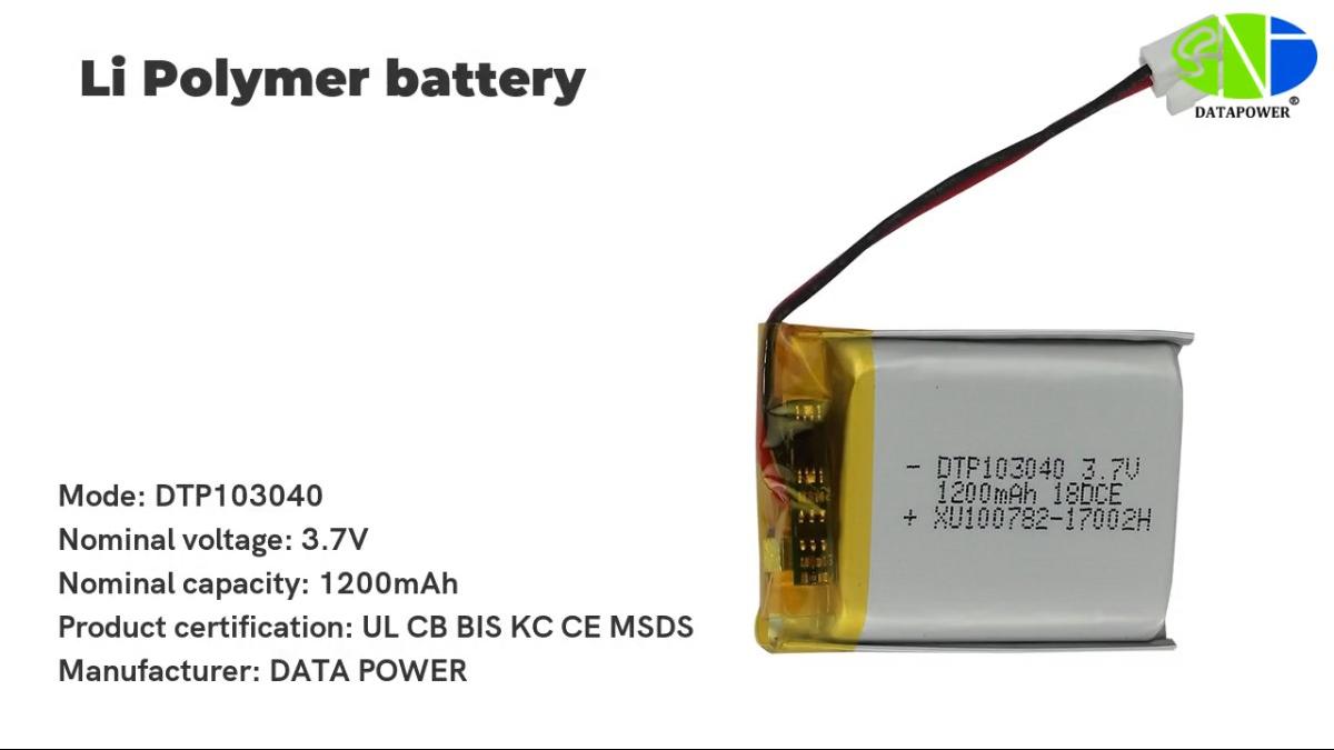 Custom 1100-2000mah Lithium Polymer Large Battery