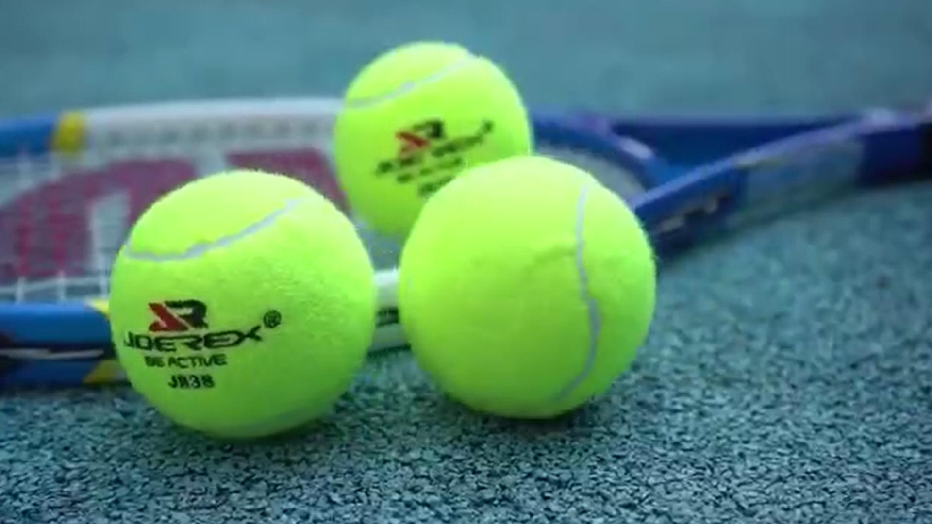 Оптом пользовательский логотип 6,3см теннисный мяч