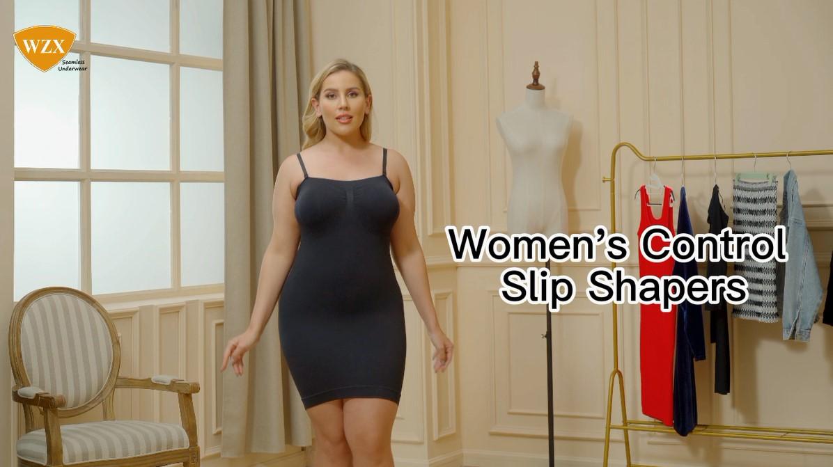WZX Women's Naadloze Liggaam Beheer Slip Dress Factory Verskaffer OEM ODM