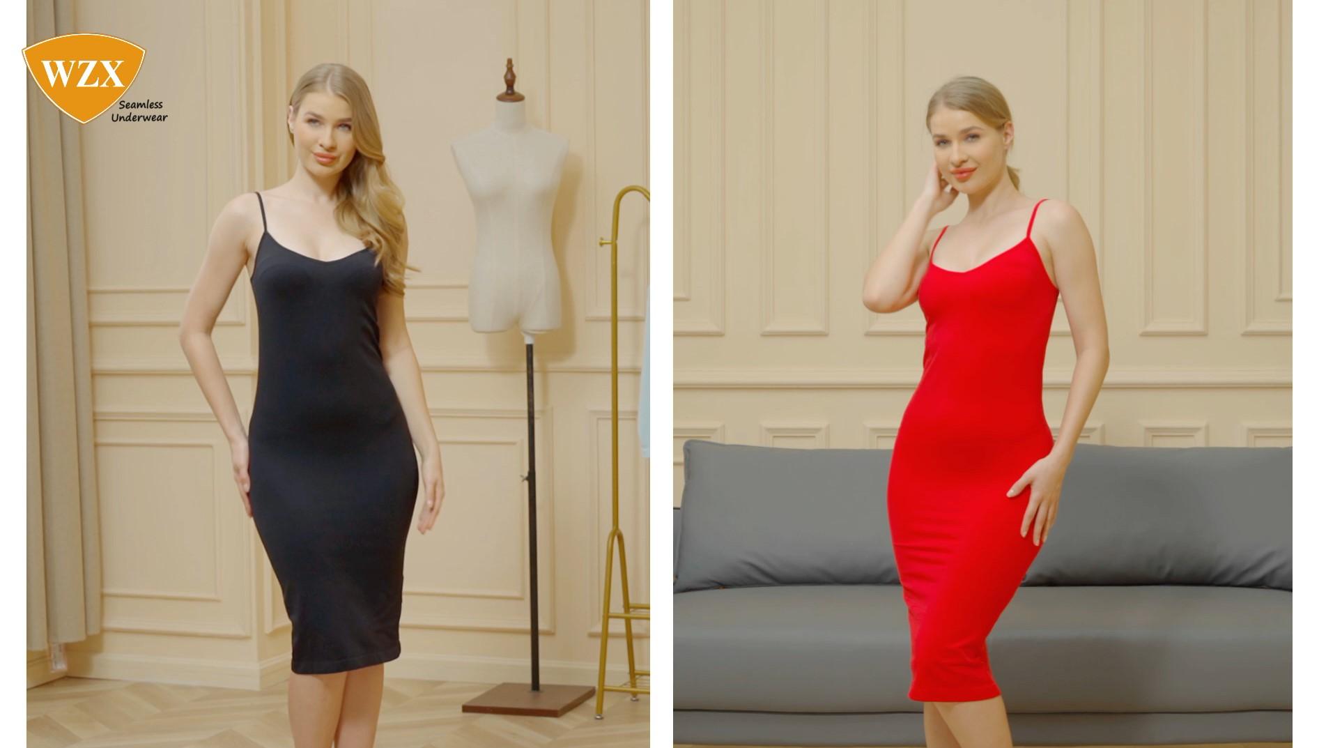 WZX Women's Volledige Slip Verstelbare Spaghetti Strap Shapewear Vervaardiger OEM ODM