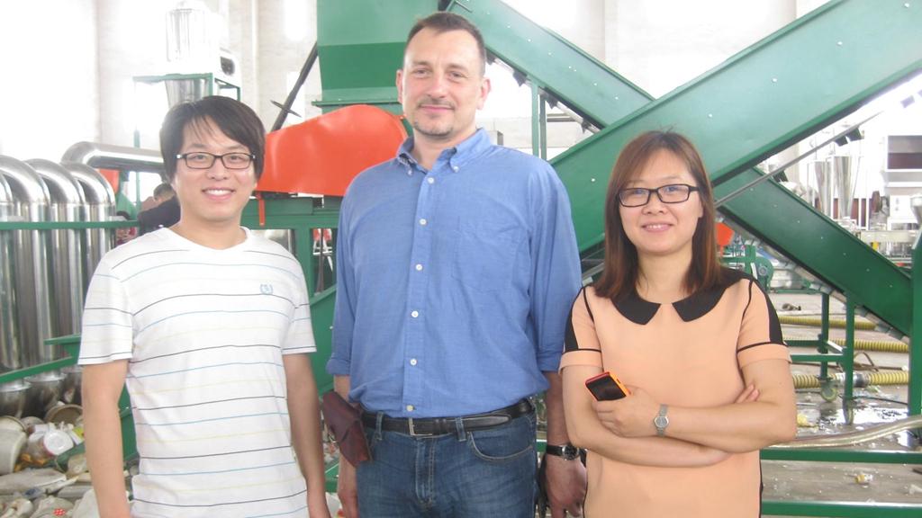 Poland HDPE Bottles Recycling Machine 500-800kg/hr, HDPE pelletizing machine