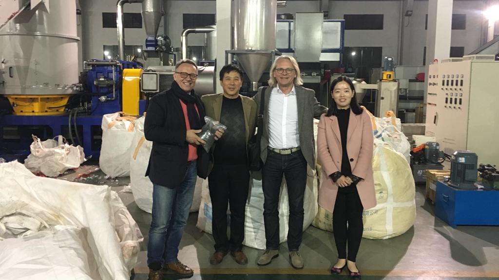 Germany Customer PP BOPP Films, Non-woven, Fabrics Pelletizing Machine 800-1000kg/hr