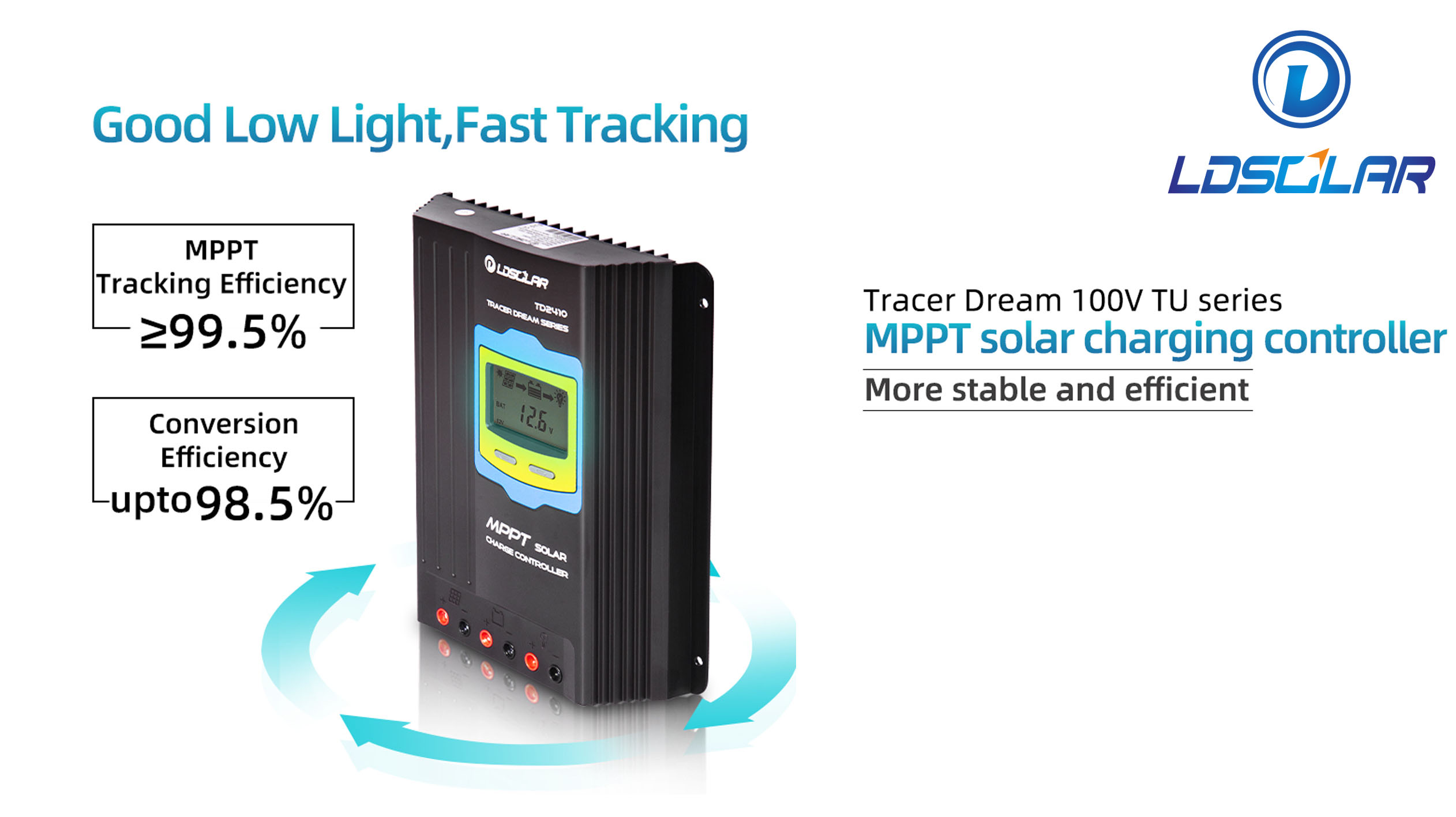 Tracer Dream 100V TU Series MPPT Solar Charge Controller