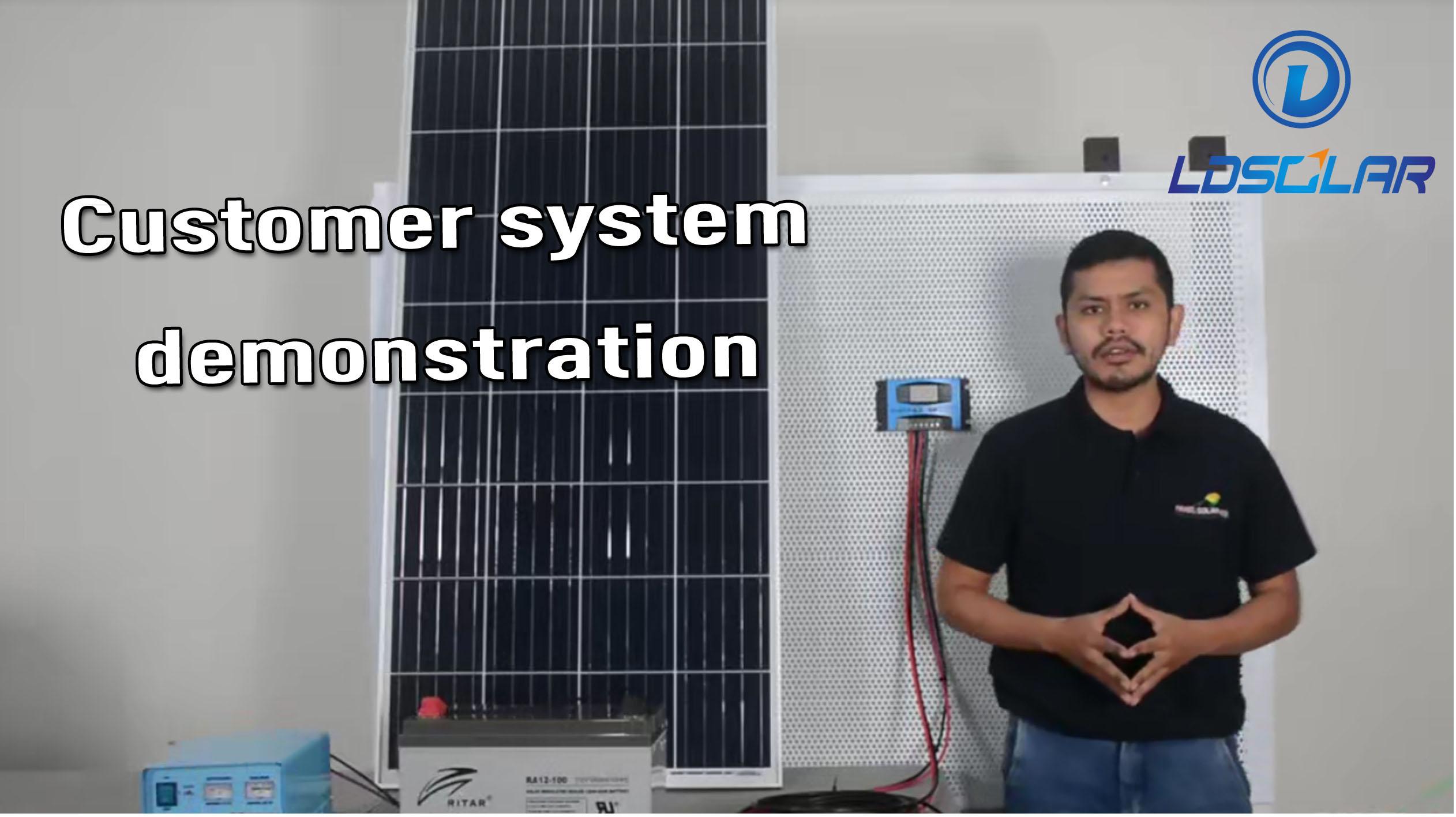 demonstração de sistema de cliente de controlador de carga internacional de tecnologia solar