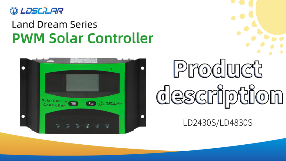 PWM solar controller LD2430S/LD 4830S
