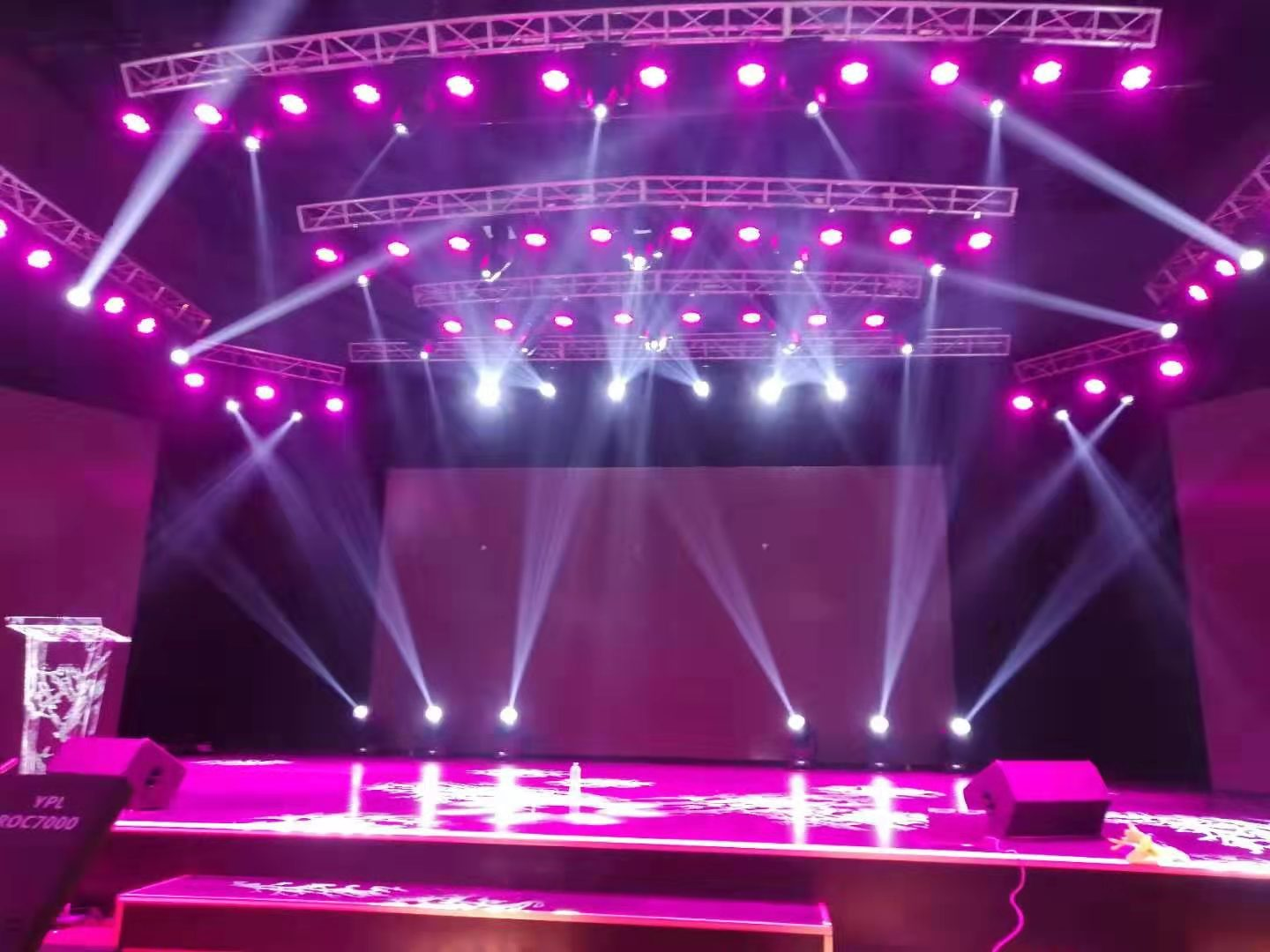 Best 380W moving head beam in TV Station  - Yellow River